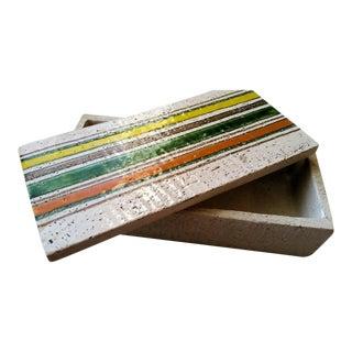 Bitossi Rosenthal-Netter Pottery Lidded Box