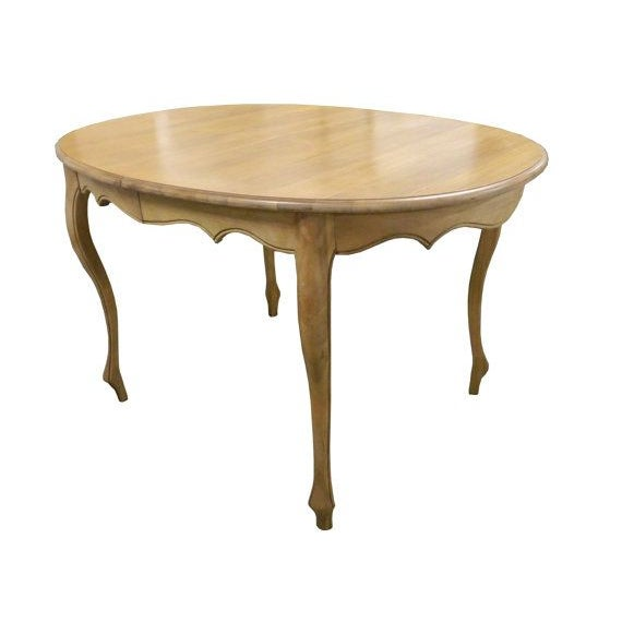 French Provincial Natural Finish Dining Table Chairish