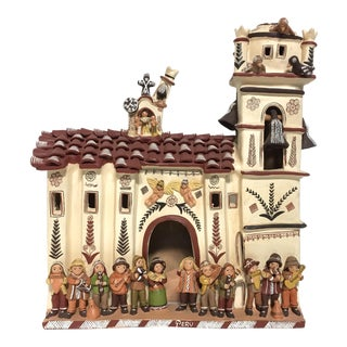 Peruvian Terracotta Folk Art Church