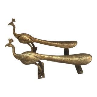 Gold Brass Peacock Door Handles