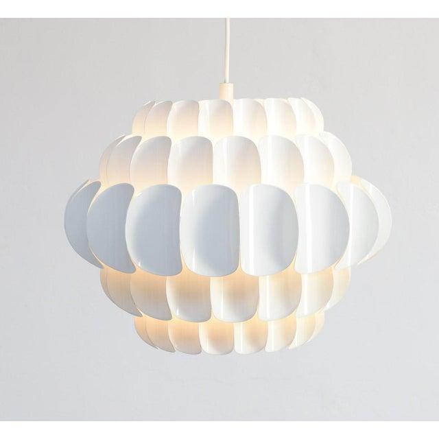 White Metal Petal Pendant by Thorsten Orrling for Hans Agne Jakobsson - Image 3 of 3