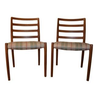Mid-Century Modern Danish Model 85 Chairs by Niels O. Møller for j.l. Moller - Set of 2