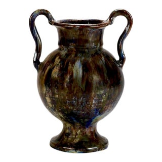 Tall French Amphora Form Vase or Vessel