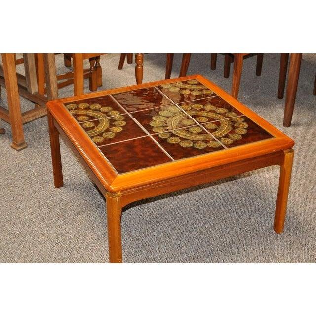 Teak & Tile Coffee Table C.1970 - Image 5 of 8