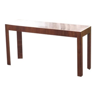 Mid-Century Modern Italian Walnut Console Table