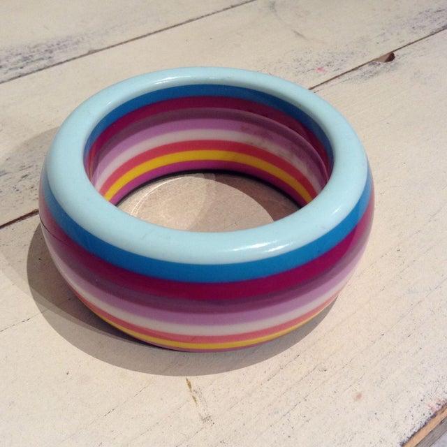 Image of Candy Striped Brazilian Resin Bangle