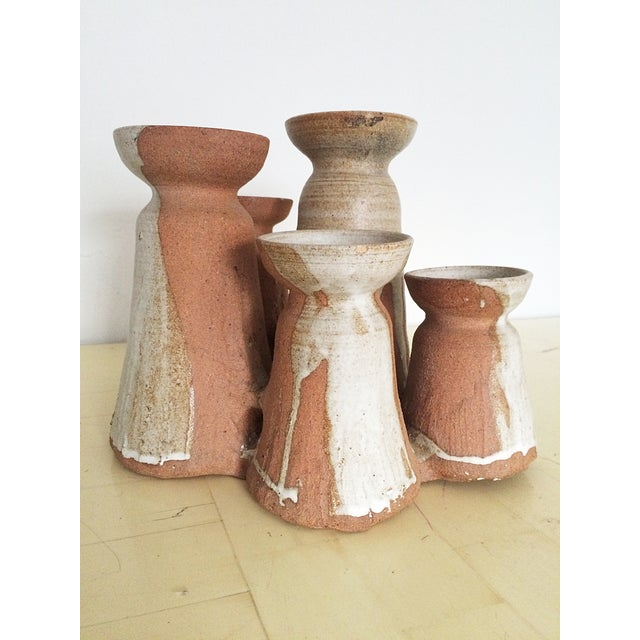 Image of Mid-Century Studio Pottery Candle Holder