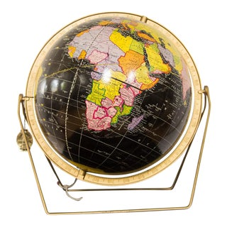 Mid-Century Cram's Black Globe
