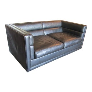 Leather Settee by Edward Wormley for Dunbar