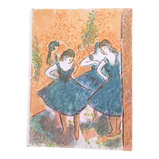 "Wayne Ensrud ""Homage to Degas 1"" Artist Proof Lithograph Print"