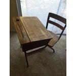 Image of Vintage Home School Desks - Pair