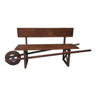 Wooden Wheel Barrow Bench