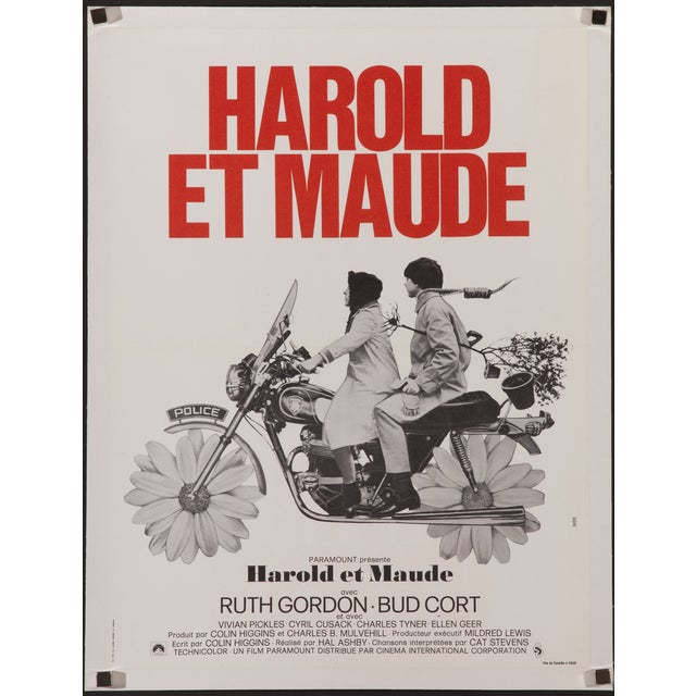 """""""Harold and Maude"""" French Film Poster - Image 2 of 2"""