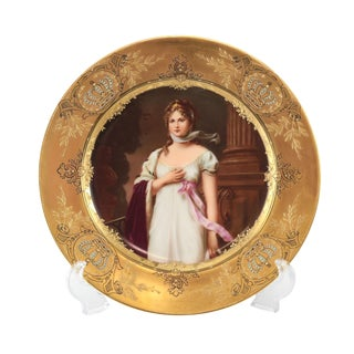 Porcelain Hand Painted Queen Louise of Prussia 19th Century Plate