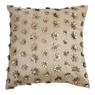 Pyar Linen Flower Pillow