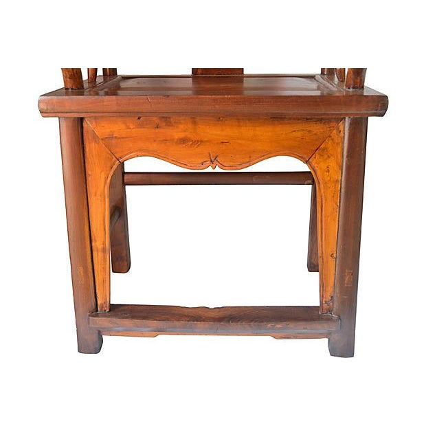 Vintage Ming Style Rosewood Armchair - Image 5 of 6