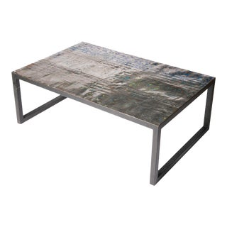 Small Recycled Oil Drum Coffee Table