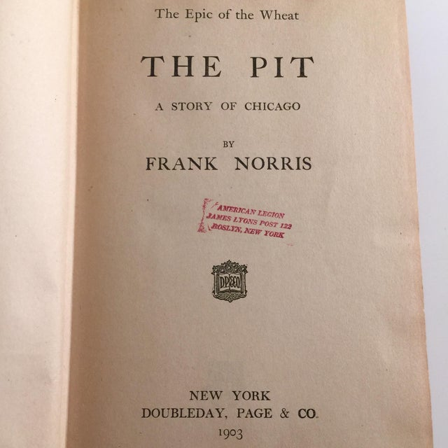 Image of The Pit by Frank Norris Book, 1903