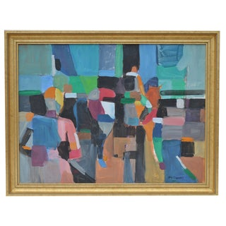 Abstract Horse Show Oil Painting