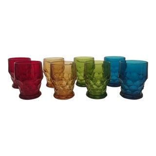 Faceted Gem Cut Rocks Glasses - Set of 8