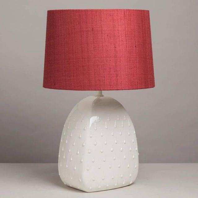 Image of Single Italian Glazed Ceramic Table Lamp, 1960s