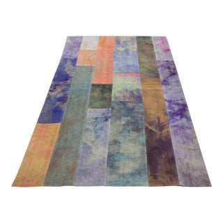 Vintage Turkish Tie Dye Patchwork Rug - 4' x 6'6""