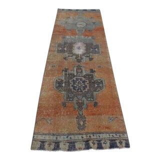 """Turkish Antique Wool Runner Rug - 29"""" x 109"""""""