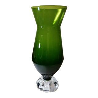 Aseda Scandinavian Green Glass Vase