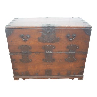 Antique Wood & Iron Chest
