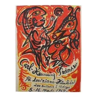 Carl-Henning Pedersen Silkscreen Poster