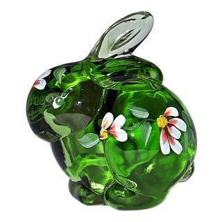 Fenton Hand Painted Glass Bunny