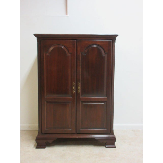 ethan allen georgian court chippendale petite tv cabinet entertaiment center chairish. Black Bedroom Furniture Sets. Home Design Ideas