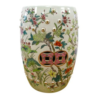 Chinese Porcelain Floral Garden Stool