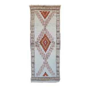 "Vintage Boujaad Moroccan Berber Rug - 3'8"" x 9'8"""