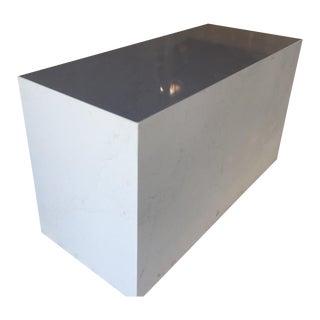 Quartz Carrera Stone Cube Table