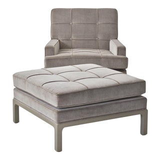 Tommi Parzinger Lounge Chair & Ottoman