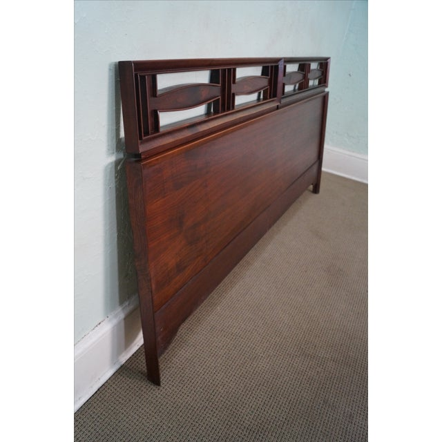 Mid Century Modern Walnut King Size Headboard - Image 3 of 10