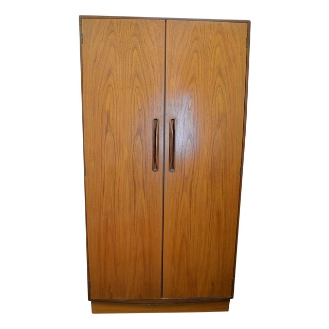 Image of G Plan Mid Century Fresco Teak Wardrobe Armoire