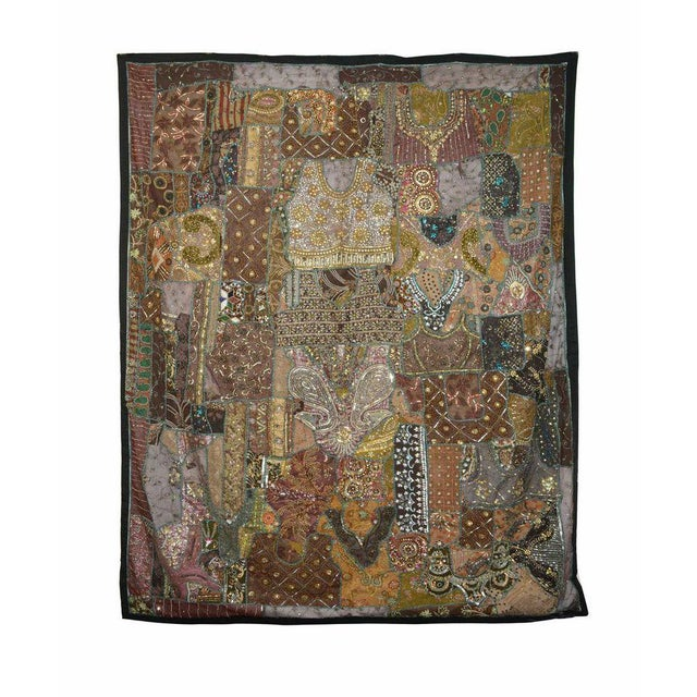 Dark Brown Vintage Panel - Image 1 of 2