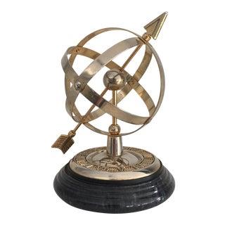 Nautical Brass & Marble Armillary Sphere