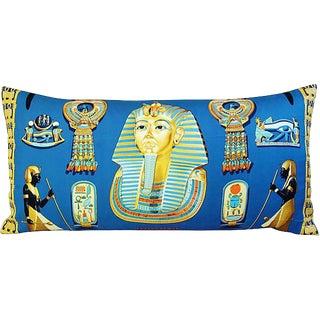 "34"" X 17"" Custom Tailored Hermes King Tutankhamun Silk Scarf Feather/Down Pillow"