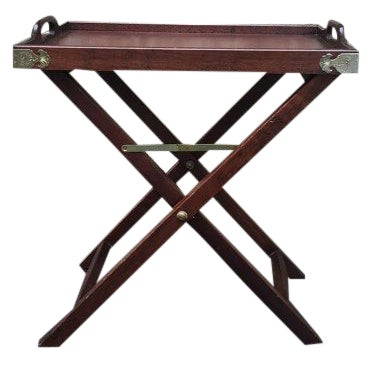 Vintage 1950s Chinoiserie Traditional Tray Table - Image 1 of 5