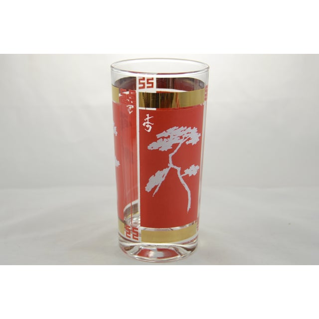 Red & Gold Chinoiserie Glasses - S/4 - Image 3 of 6