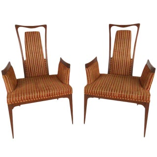 Pair Vintage Modern Adrian Pearsall Style Decorator Chairs