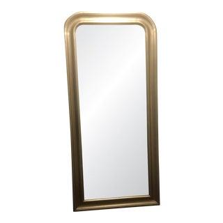 French Silver Leaf Floor Mirror
