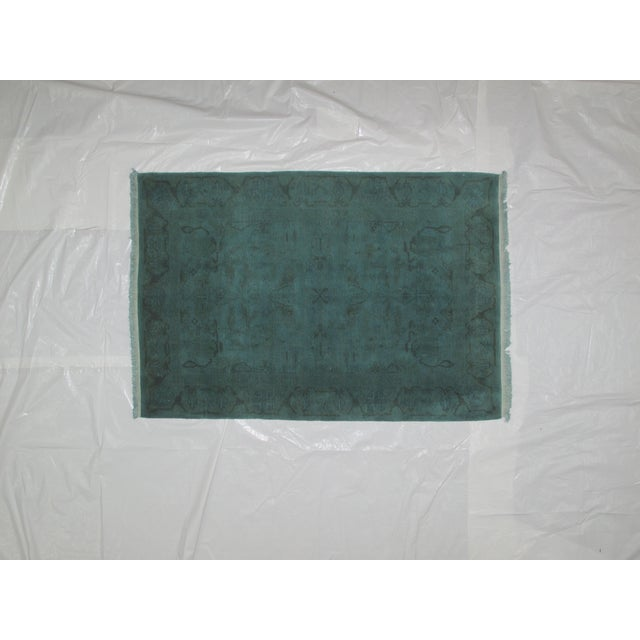"Leon Banilivi Over-Dyed Green Wool Rug - 6' X 4'3"" - Image 2 of 5"
