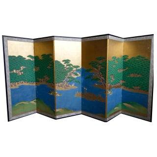 Japanese Kano School Multi Panel Screen