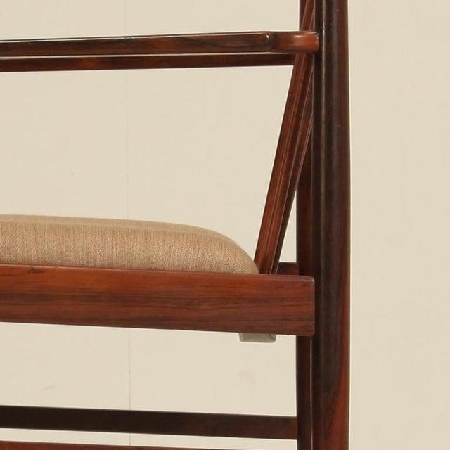 Arne Vodder set of 6 highback armchairs in rosewood, Denmark, 1960s - Image 5 of 7