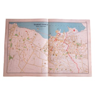 Antique Tarrytown New York Map