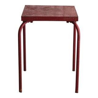 Vintage Metal Square Garden Table